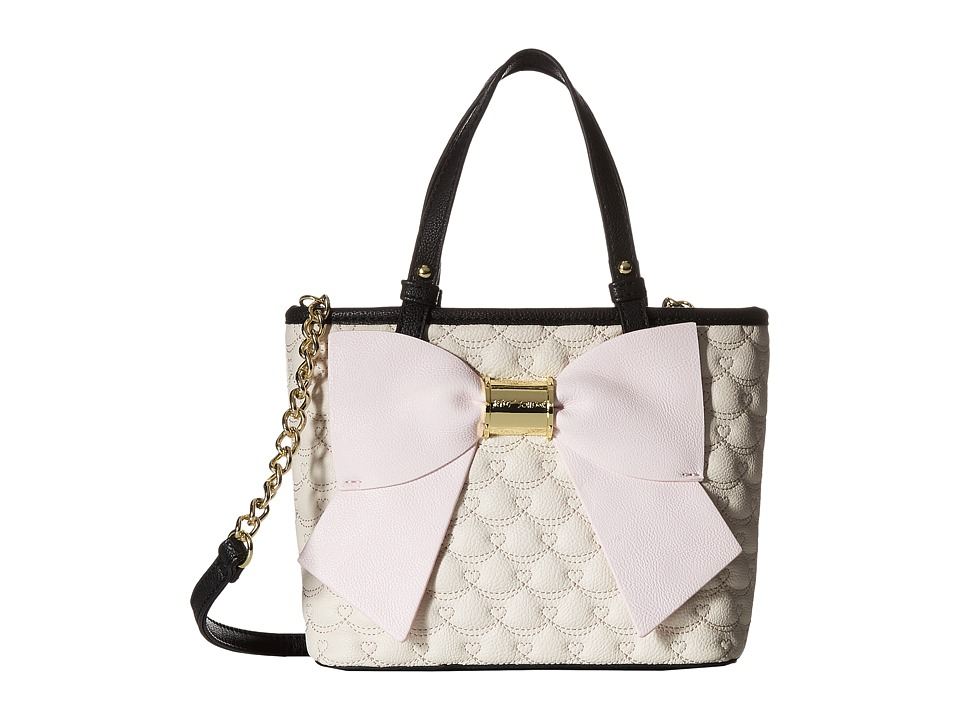 Betsey Johnson - Buck Bow Mini Satchel (Bone) Satchel Handbags