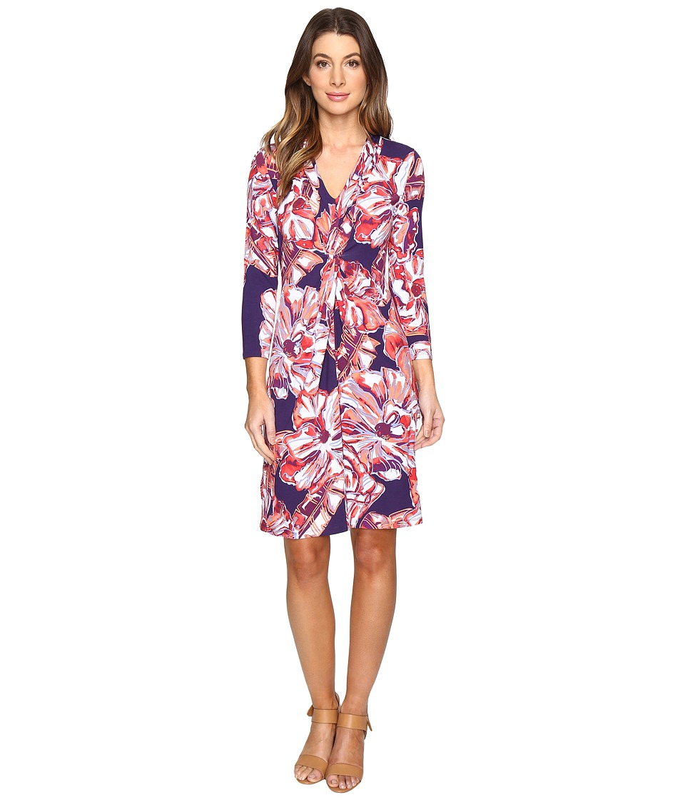 Tommy Bahama - Brushstroke Blooms Twist Dress (Parachute Purple) Women's Dress