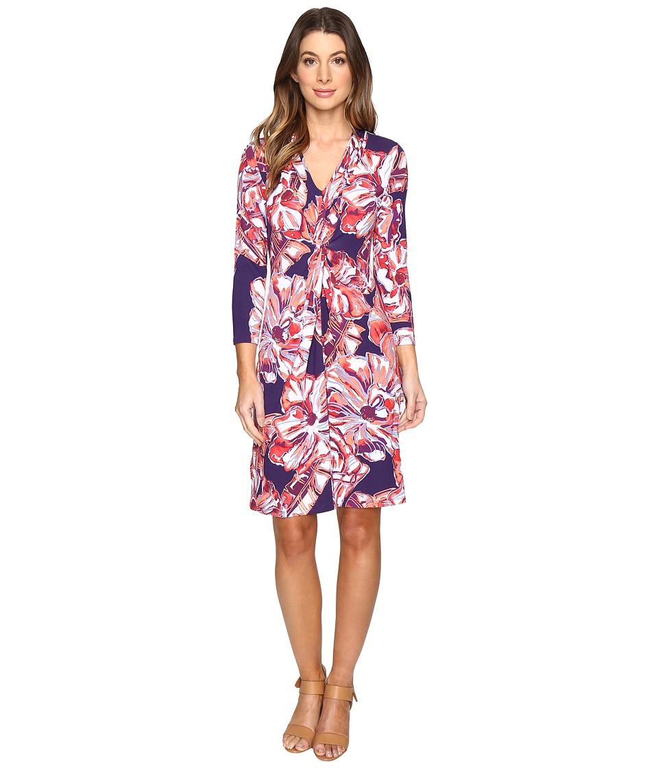 Tommy Bahama Brushstroke Blooms Twist Dress (Parachute Purple) Women