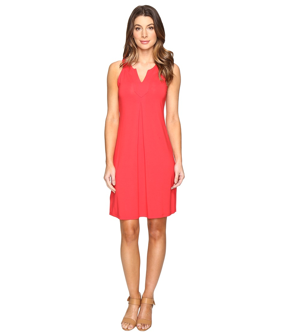 Tommy Bahama - Tambour Notch Neck Short Dress (Cherry Tomato) Women's Dress