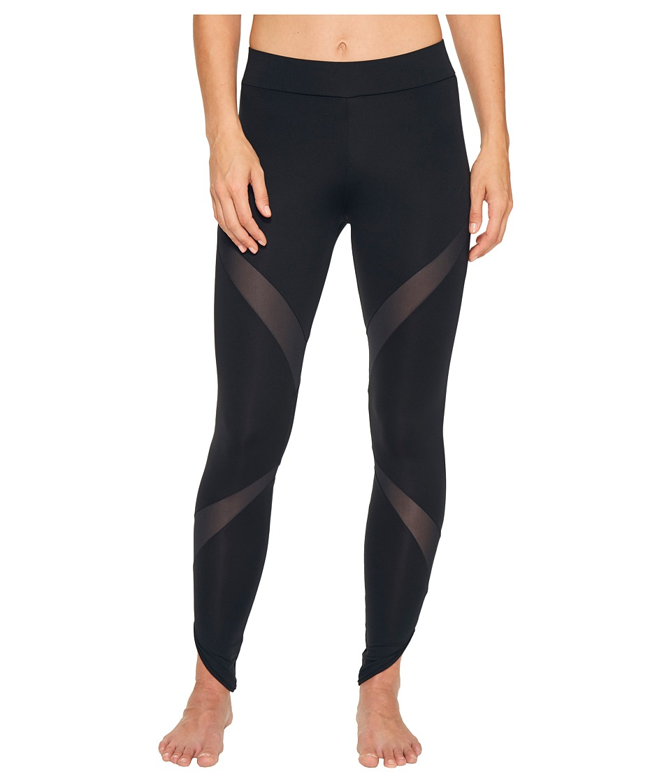 PUMA - Evo Mesh Insert Leggings (PUMA Black) Women's Workout