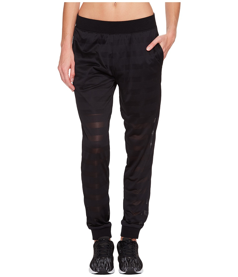 PUMA - Burnout Pants (Cotton Black) Women's Workout