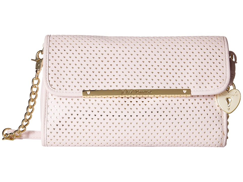 Betsey Johnson - Flap Crossbody w/ Partial Chain (Blush) Cross Body Handbags