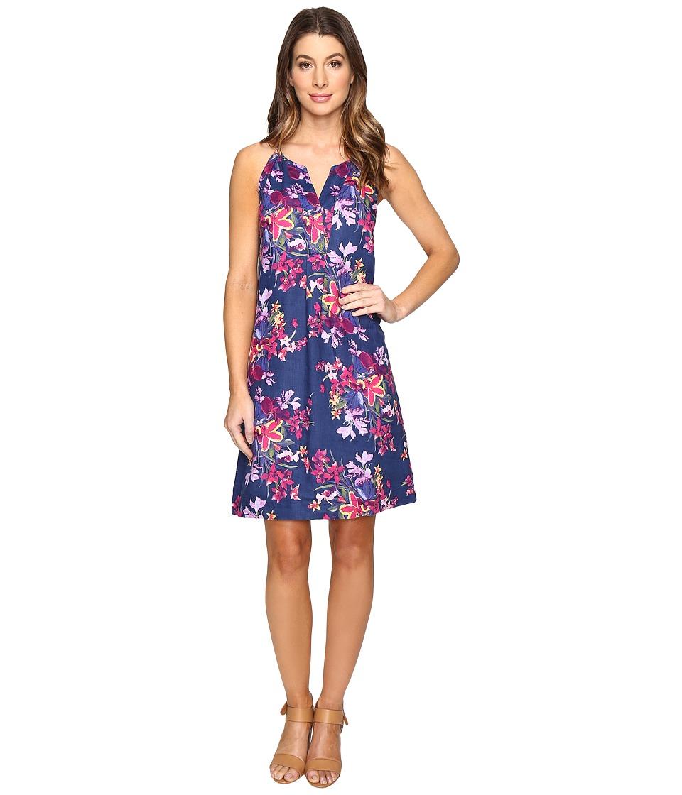 Tommy Bahama Floria Florals Linen Shift Dress (Bering Blue) Women