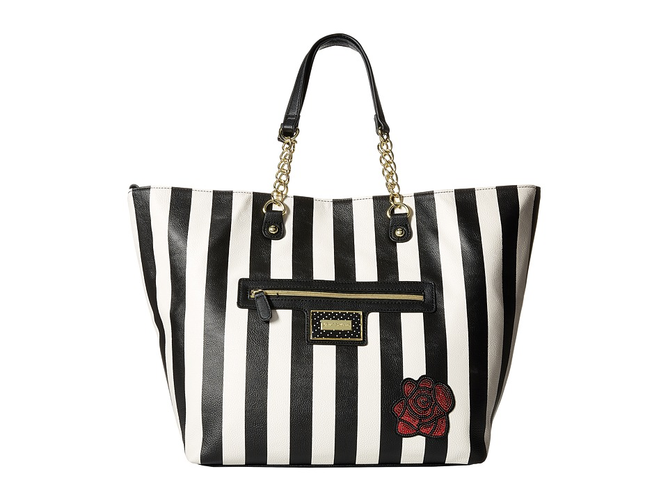 Betsey Johnson - Snap Tote (Black/White) Tote Handbags