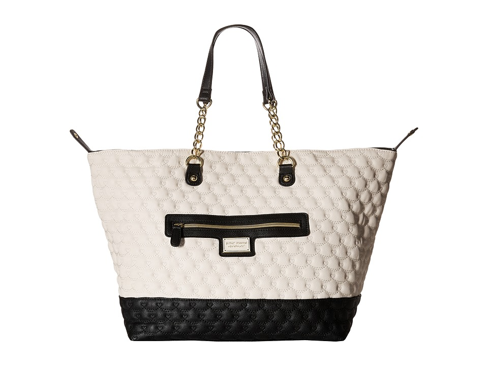 Betsey Johnson - Trap Tote (Bone/Black) Tote Handbags