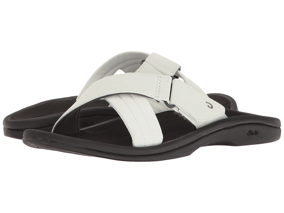 OluKai - 'Ohana Slide (White/Black) Women's Sandals