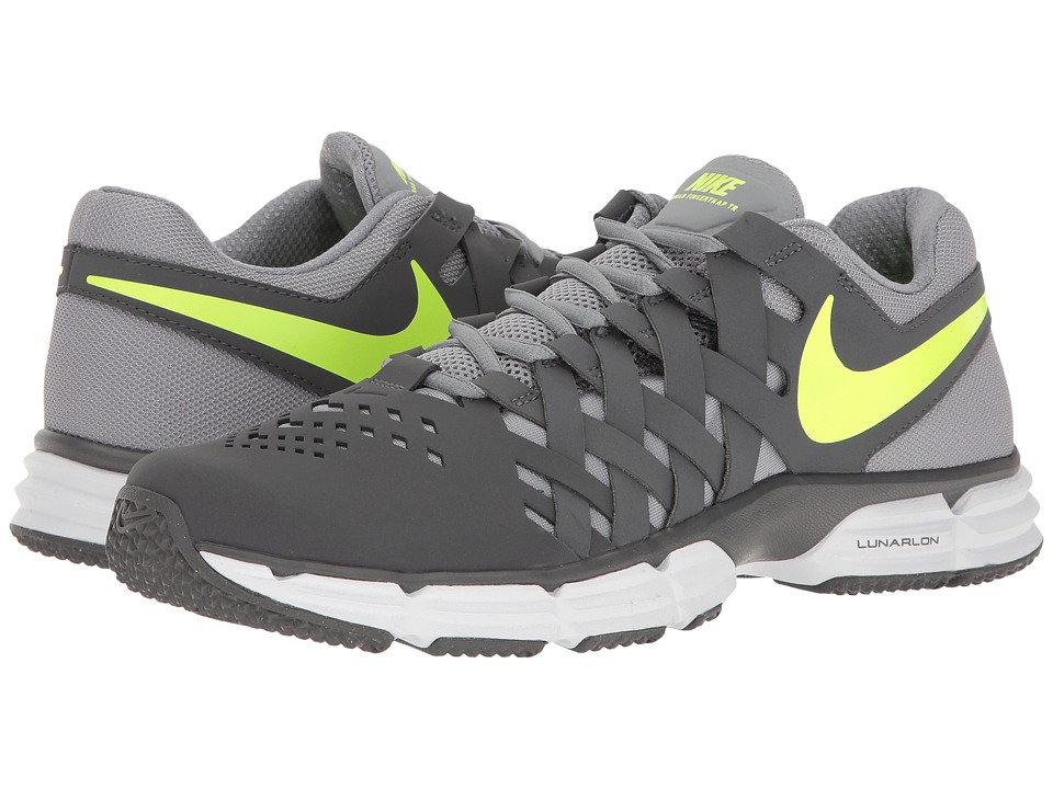Nike - Lunar Fingertrap TR (Dark Grey/Volt) Men's Shoes