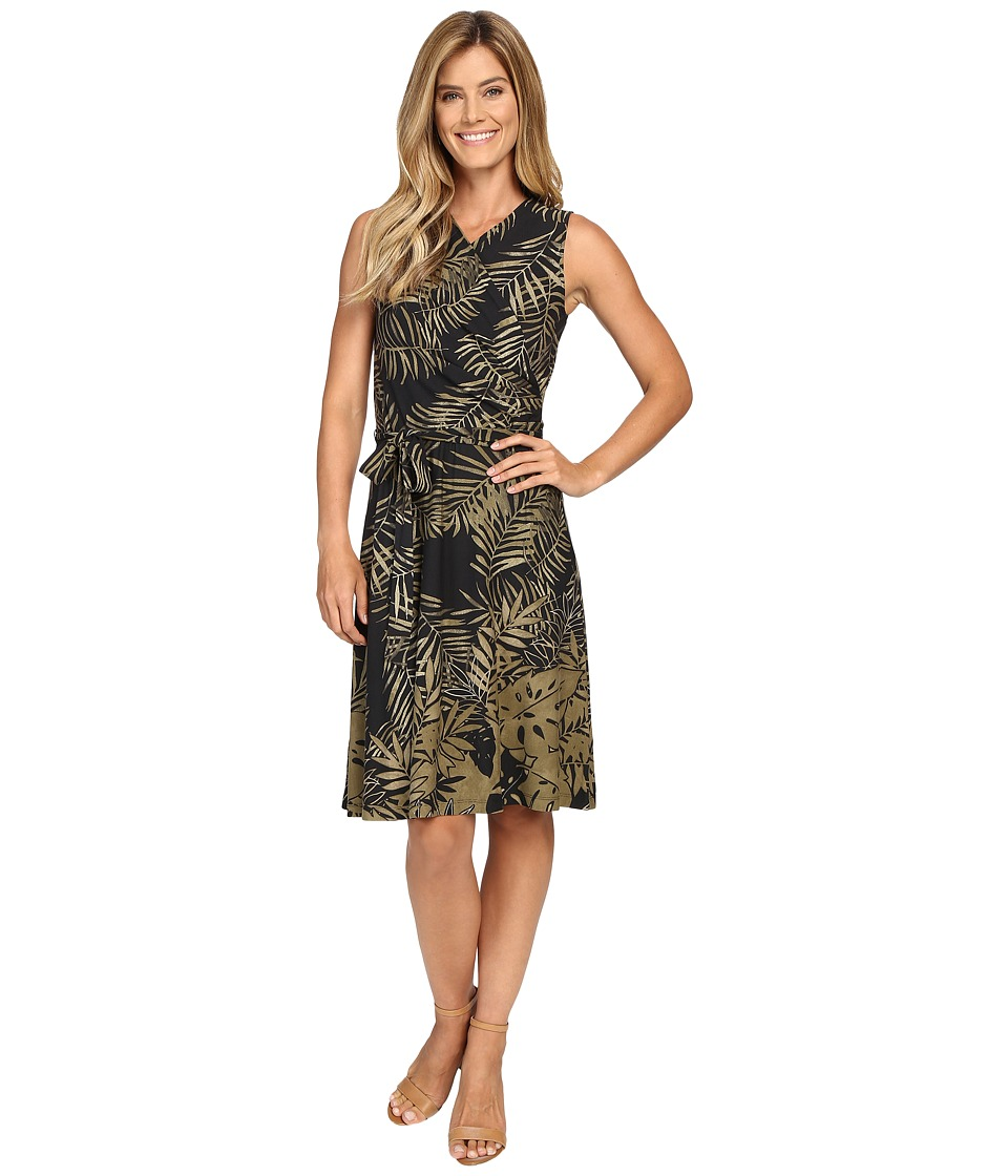 Tommy Bahama - Fronds Falling Short Wrap Dress (Black) Women's Dress