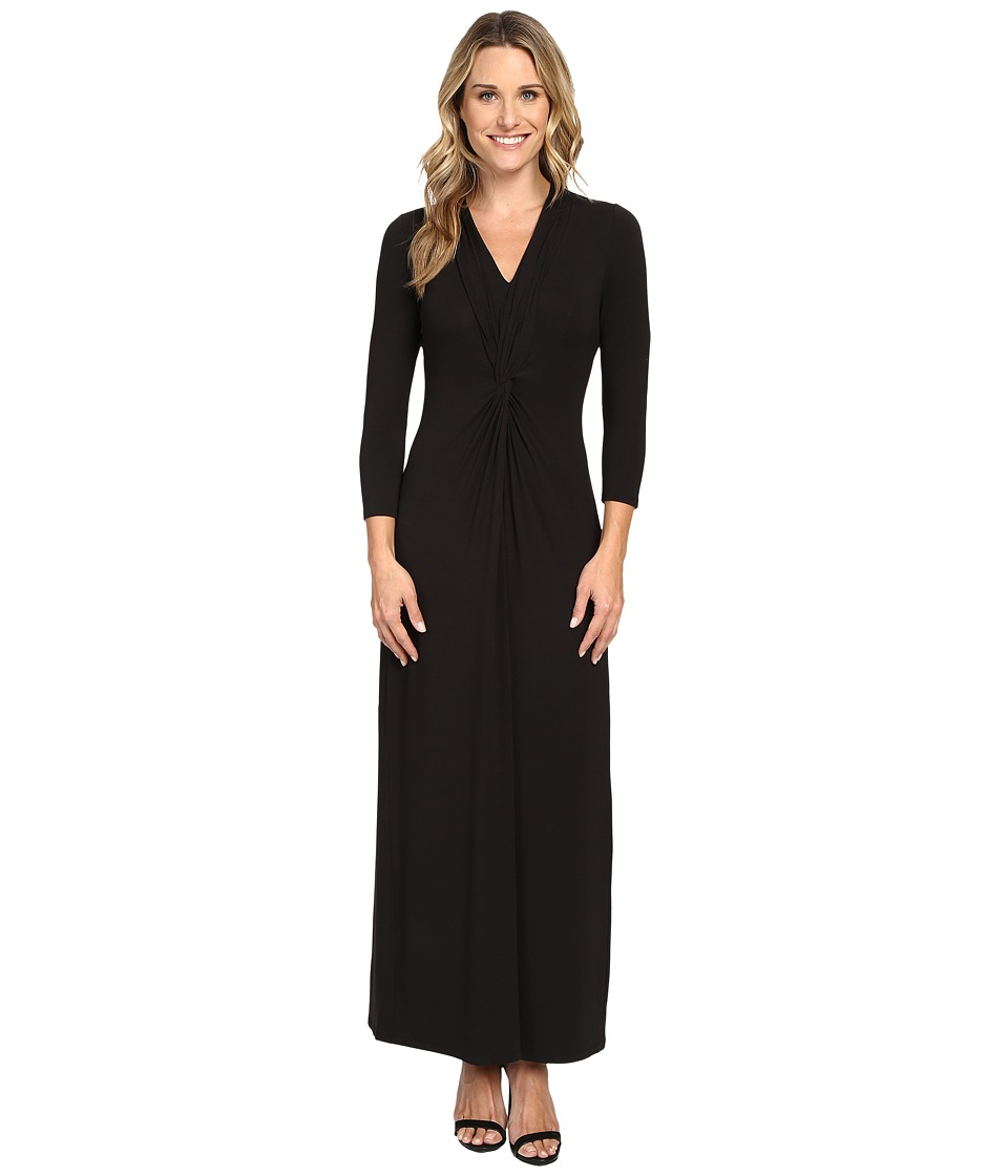 Tommy Bahama - Tambour Twist Front Maxi Dress (Black) Women's Dress