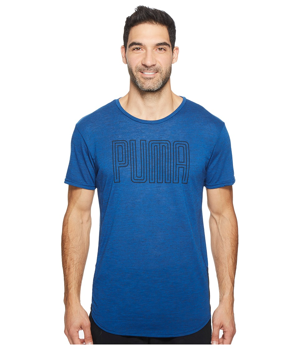 PUMA - Dri-Release Novelty Graphic Tee (True Blue Heather) Men's T Shirt