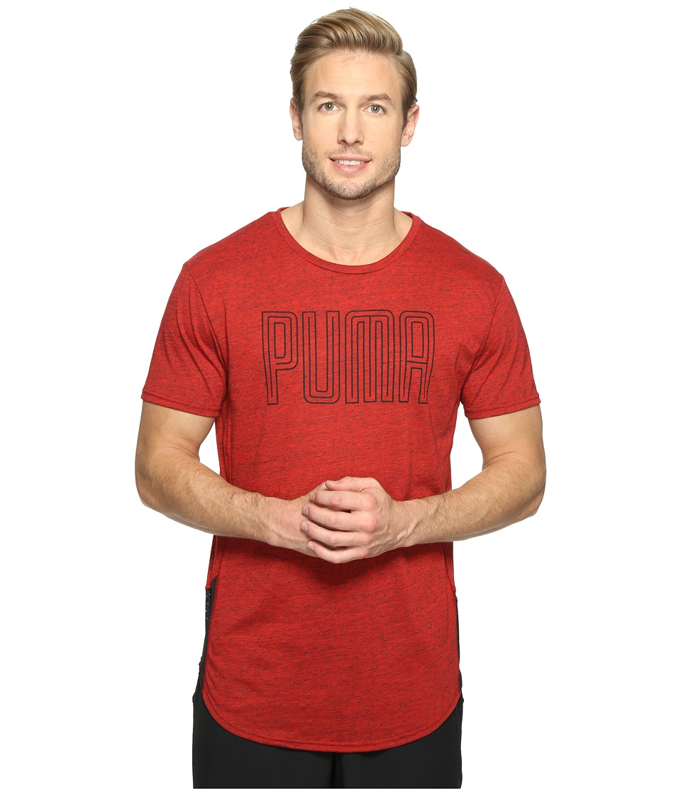 PUMA - Dri-Release Novelty Graphic Tee (High-Risk Red Heather) Men's T Shirt