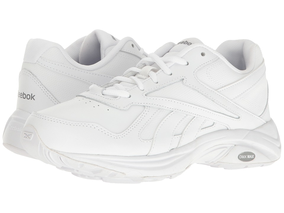 Reebok - Walk Ultra V DMX Max (White/Flat Grey) Women's Walking Shoes