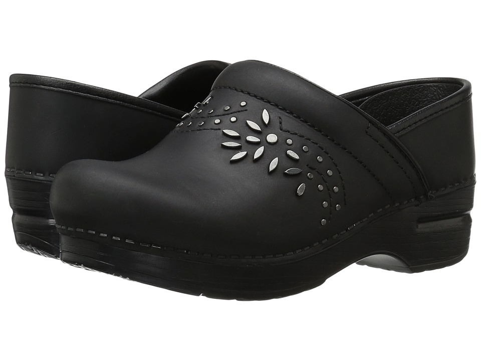 Dansko - Patricia (Black Oiled) Women's Clog Shoes