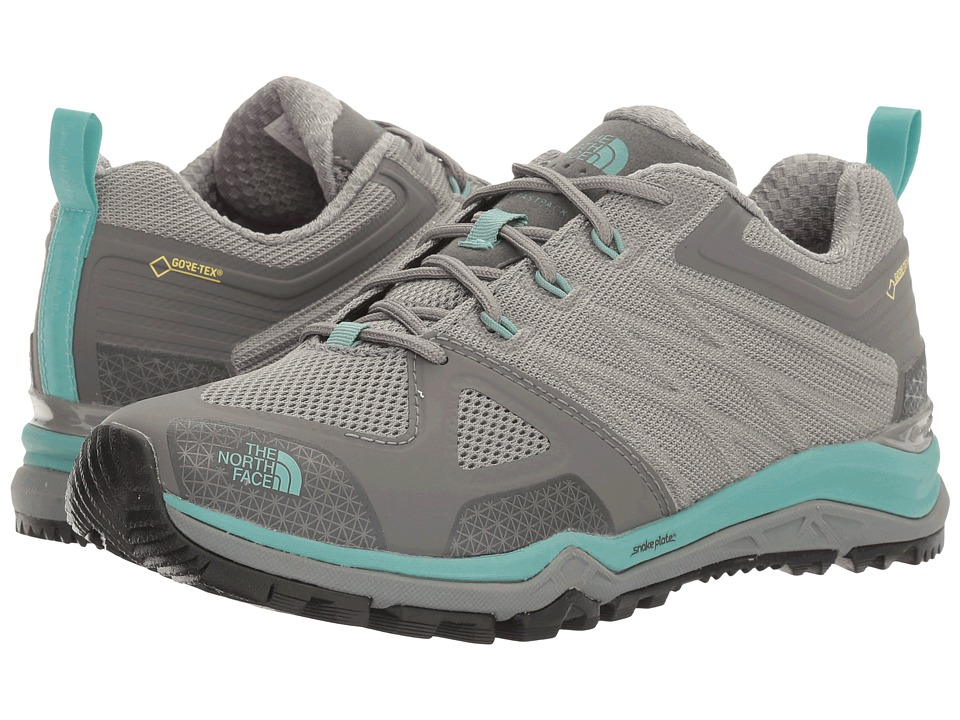 The North Face - Ultra Fastpack II GTX(r) (Moon Mist Grey/Agate Green) Women's Shoes