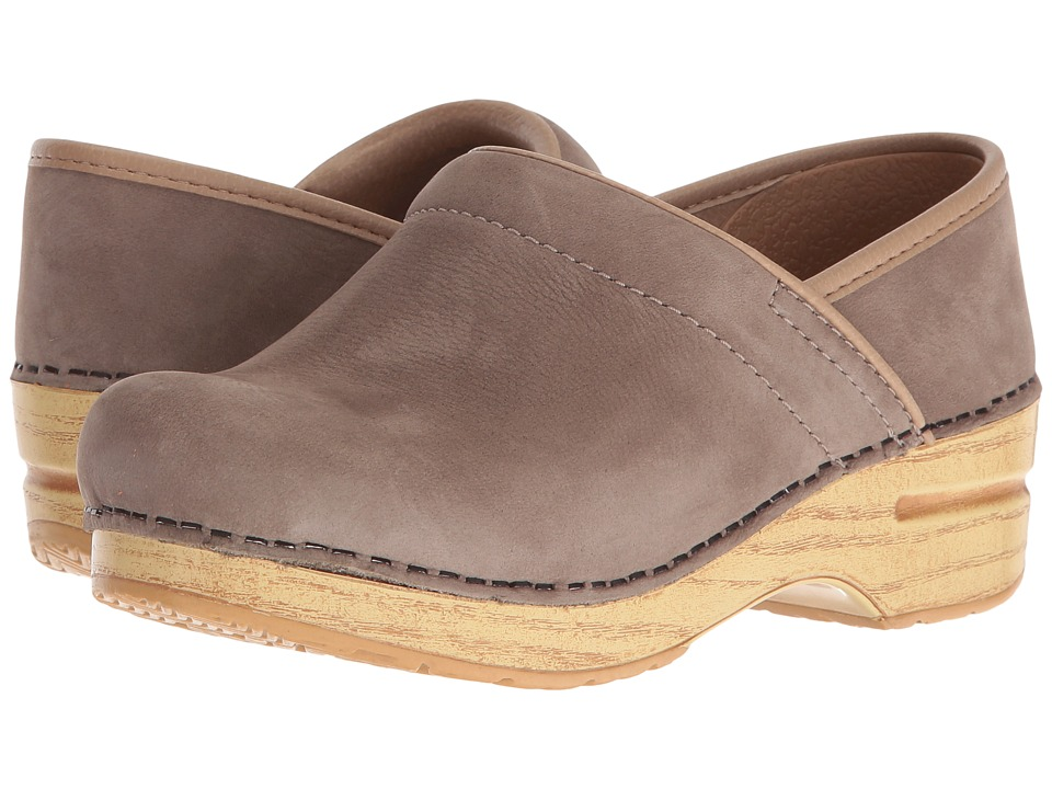 Dansko Professional (Taupe Milled Nubuck) Clog Shoes