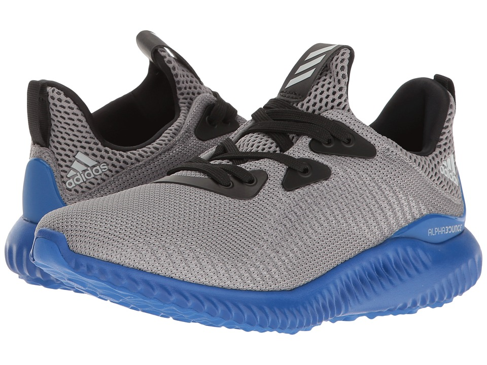 adidas Kids - Alpha Bounce (Big Kid) (Trace Grey/Energy/Clear Aqua) Boys Shoes