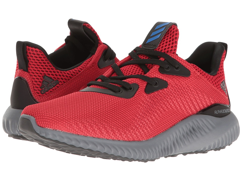 adidas Kids Alpha Bounce (Big Kid) (Scarlet/Blue/Core Black) Boys Shoes