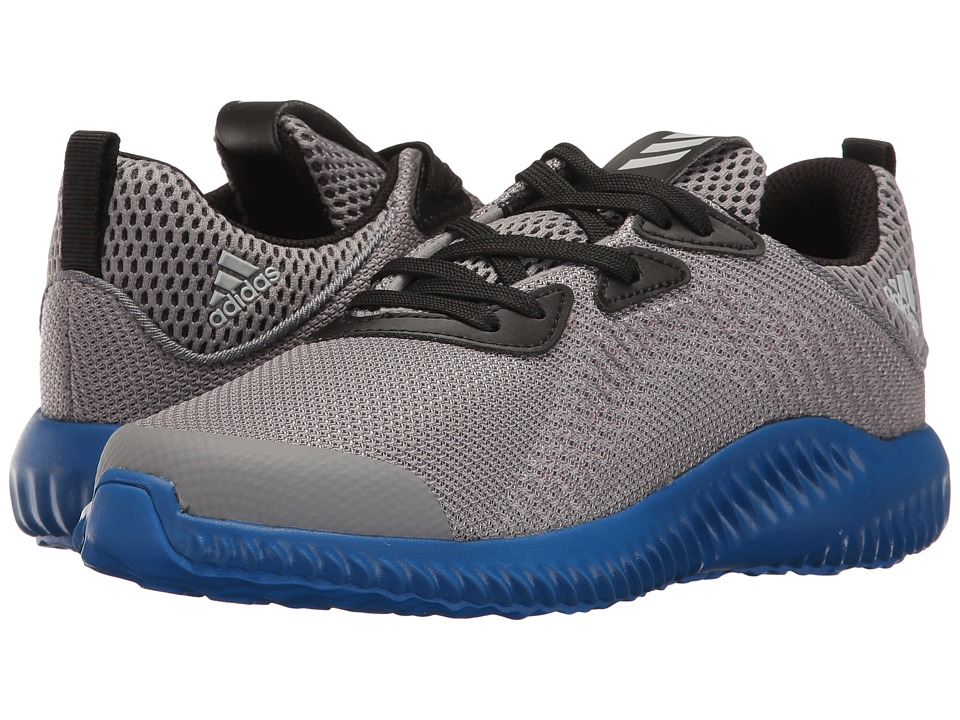 adidas Kids Alphabounce (Little Kid) (Trace Grey/Energy/Clear Aqua) Boys Shoes