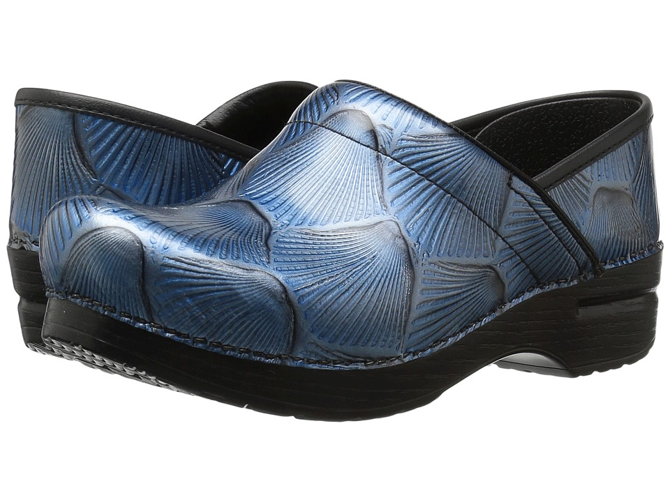 Dansko - Professional (Blue Shell Patent) Women's Clog Shoes
