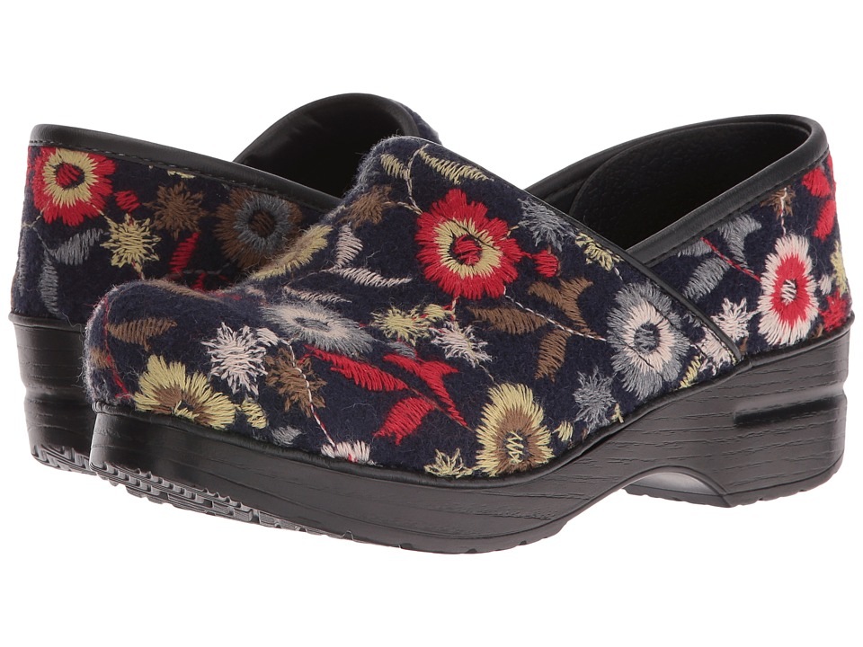 Dansko - Felt Pro (Navy Floral) Women's Clog Shoes