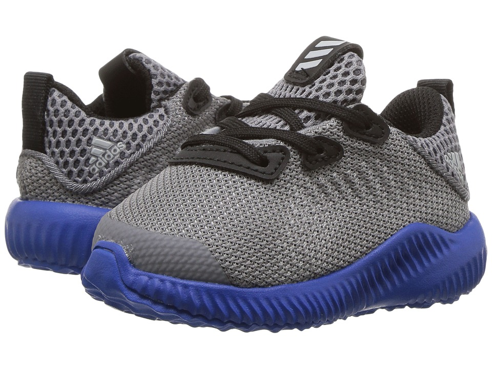 adidas Kids Alphabounce (Toddler) (Trace Grey/Energy/Clear Aqua) Boys Shoes