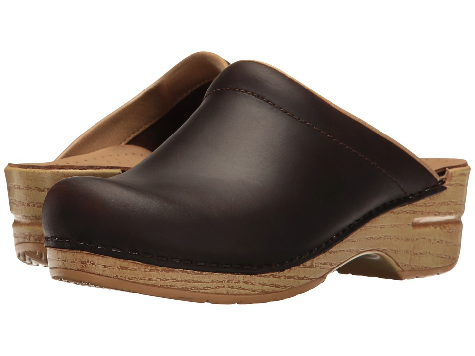 Dansko - Sonja (Antique Brown/Natural Oiled) Women's Clog Shoes