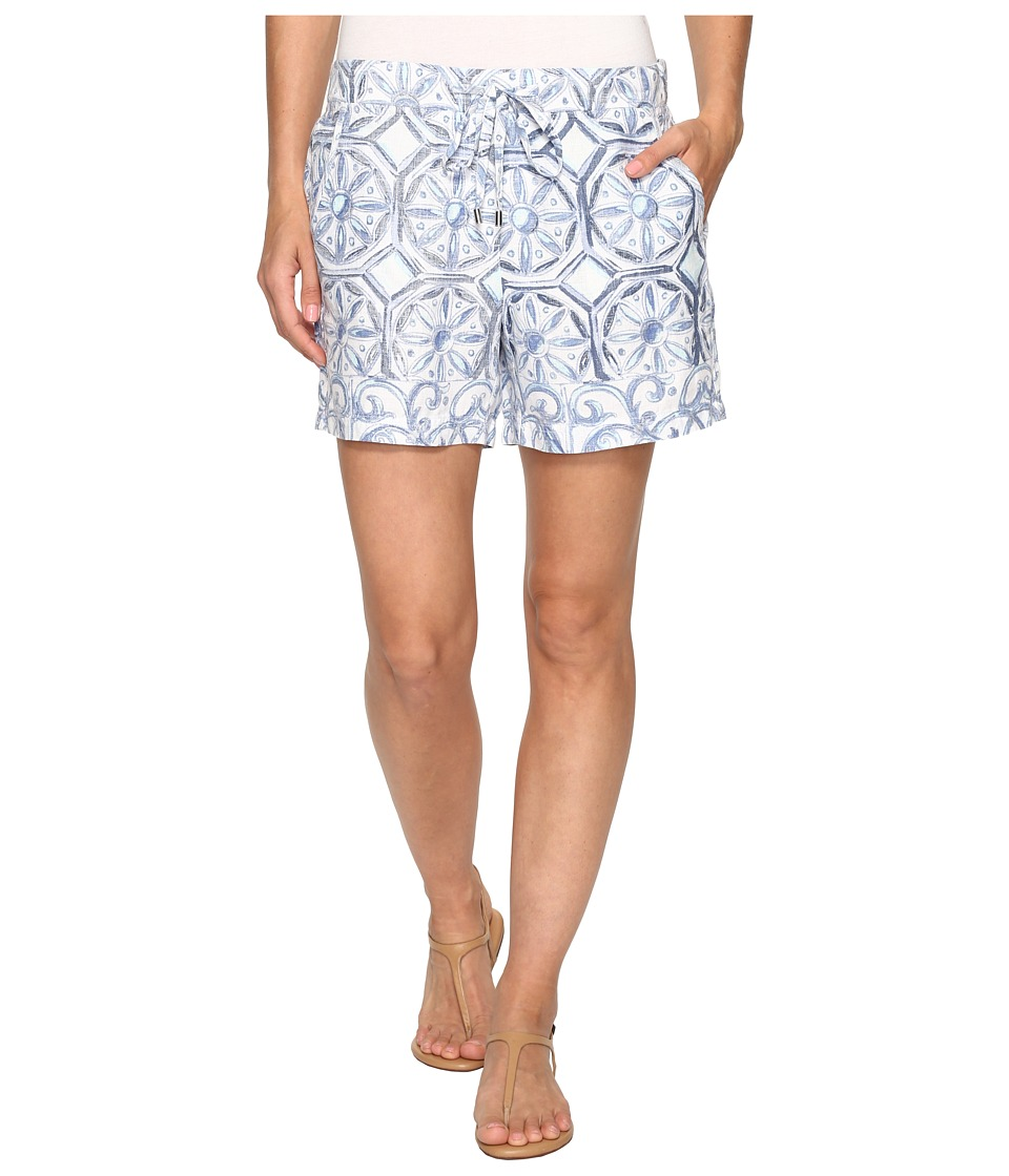 Tommy Bahama - Watercolor Tiles Shorts (Bering Blue) Women's Shorts