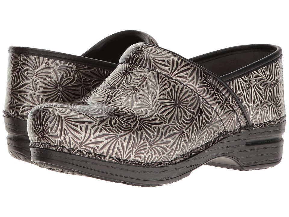 Dansko - Pro XP (Silver Ornate Patent) Women's Clog Shoes