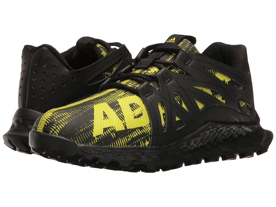 adidas Kids - Vigor Bounce (Little Kid) (Core Black/Onix/Solar Yellow) Boys Shoes