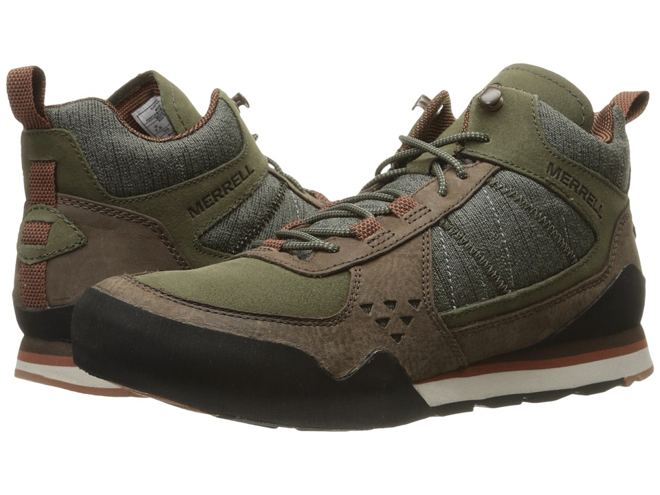 Merrell - Burnt Rock Mid (Dusty Olive) Men's Shoes