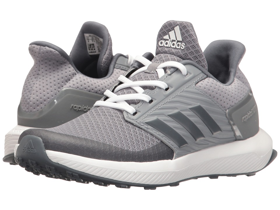 adidas Kids RapidaRun (Little Kid/Big Kid) (Grey/Onix/Footwear White) Boys Shoes