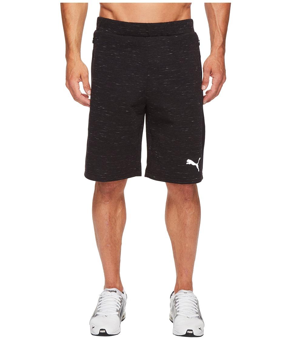 PUMA - Evostripe Spaceknit Shorts (Cotton Black Heather) Men's Shorts