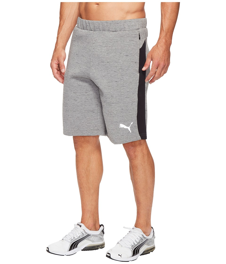 PUMA - Evostripe Spaceknit Shorts (Medium Gray Heather) Men's Shorts