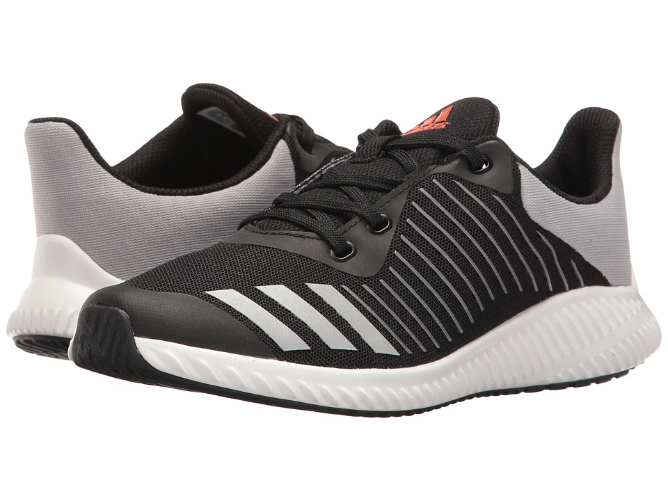 adidas Kids - FortaRun - Wide (Little Kid/Big Kid) (Black/Energy/Silver) Boys Shoes