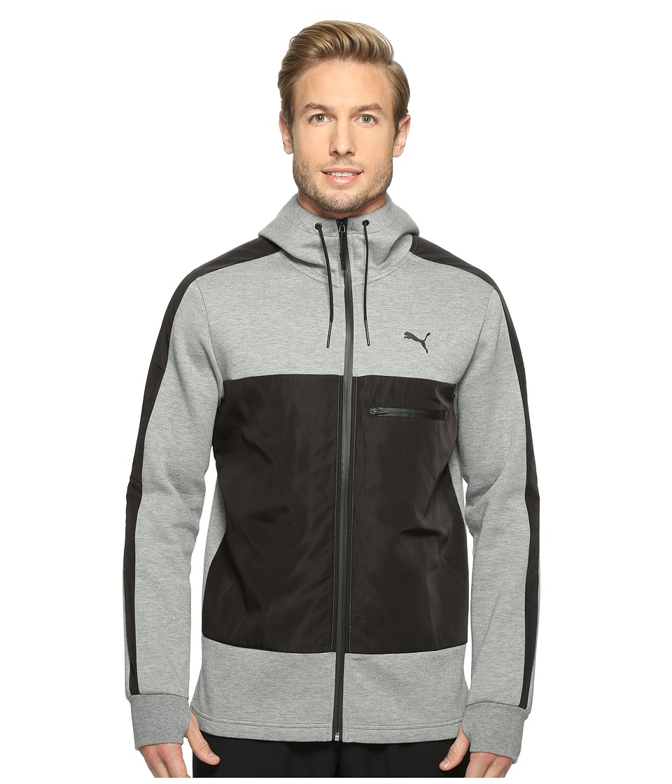 PUMA - Evo Inserts Full Zip Hoodie (Medium Gray Heather) Men's Sweatshirt