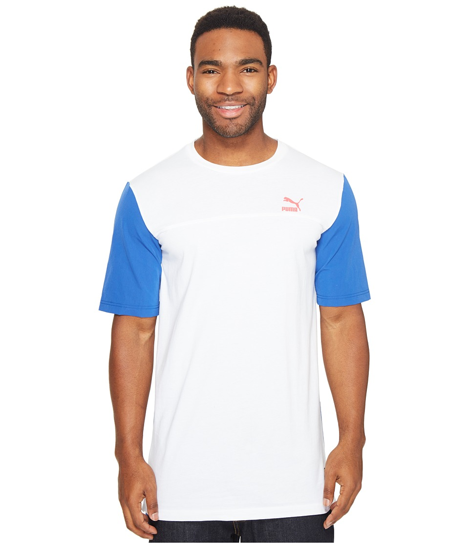 PUMA - Color Block Image Tee (PUMA White) Men's T Shirt