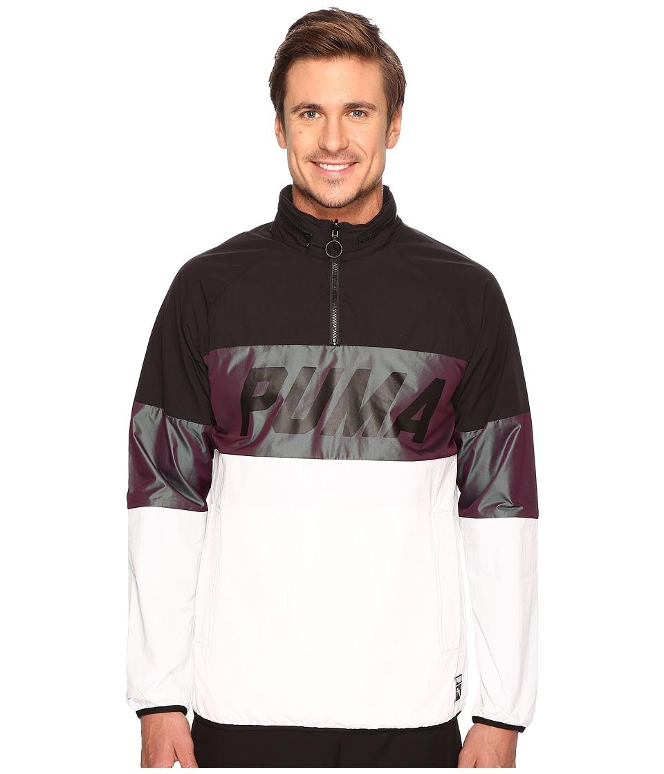 PUMA - Color Block Jacket (PUMA Black) Men's Coat