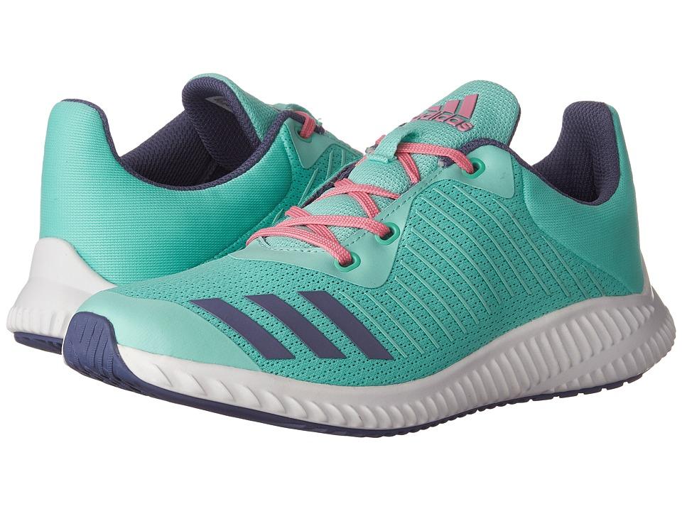 adidas Kids FortaRun (Little Kid/Big Kid) (Easy Green/Super Purple/White) Girls Shoes