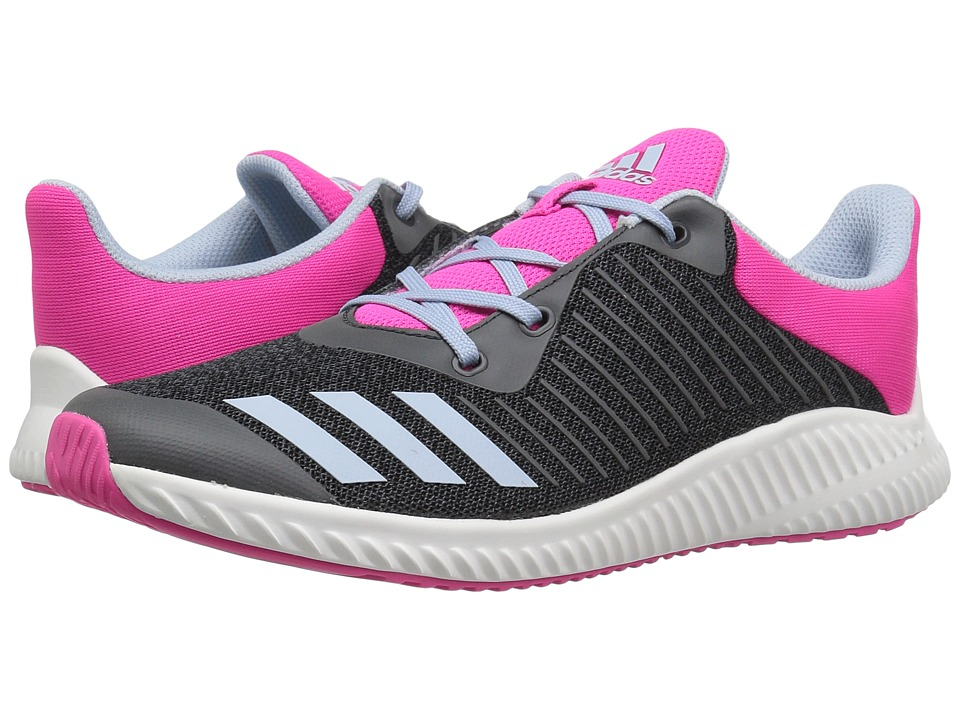 adidas Kids - FortaRun (Little Kid/Big Kid) (Dark Grey/Easy Blue/Shock Pink) Girls Shoes