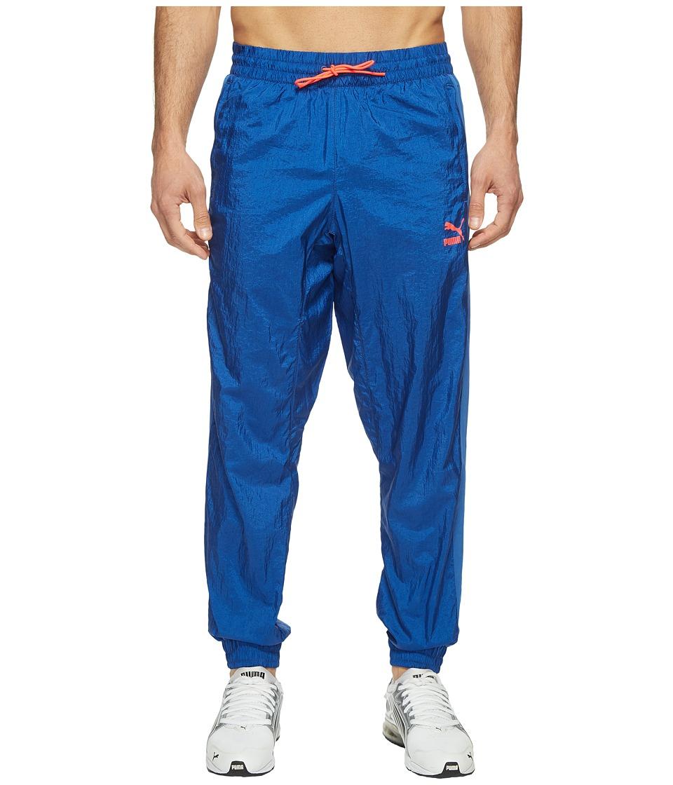 PUMA - Color Block Woven Pants (True Blue) Men's Workout
