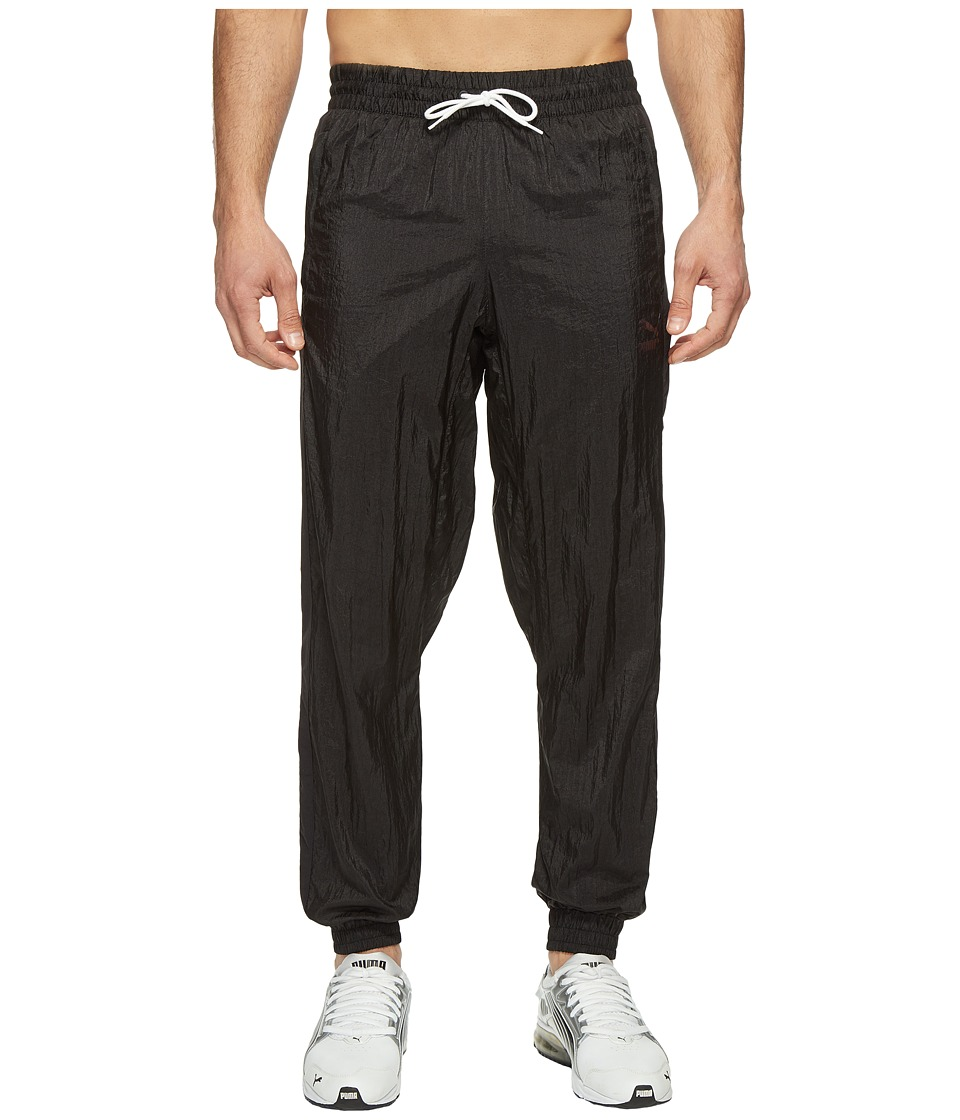 PUMA - Color Block Woven Pants (PUMA Black) Men's Workout