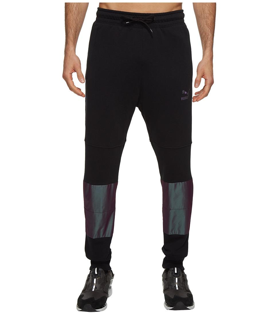 PUMA - Color Block Sweatpants (PUMA Black) Men's Workout