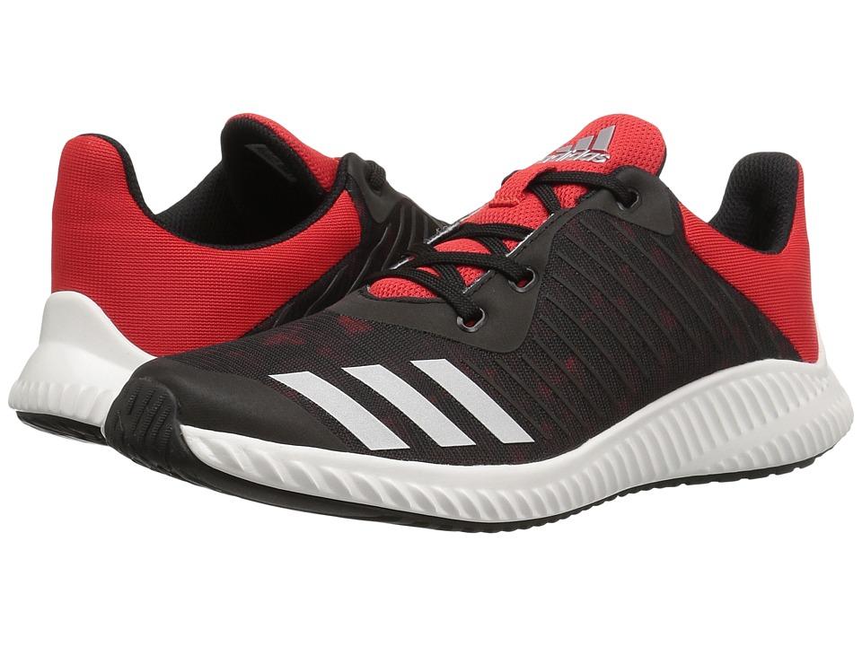 adidas Kids - FortaRun Print (Little Kid/Big Kid) (Black/Red/White) Boys Shoes