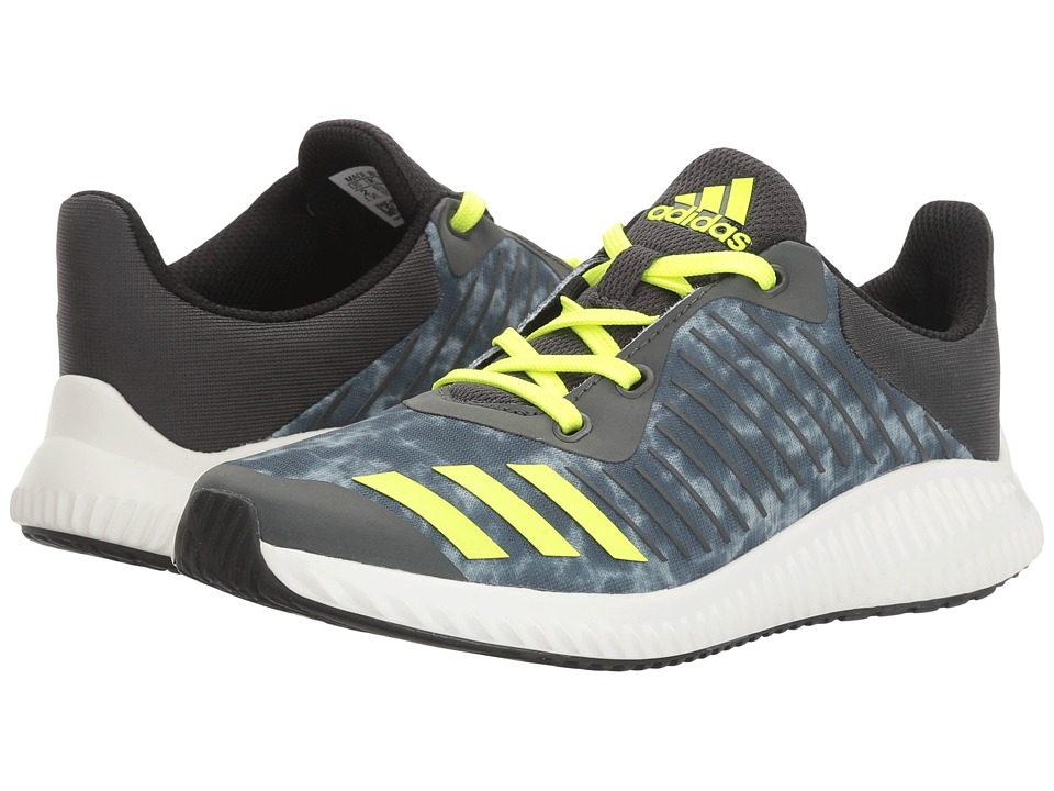 adidas Kids - FortaRun Print (Little Kid/Big Kid) (Solid Grey/Solar Yellow/Black) Boys Shoes