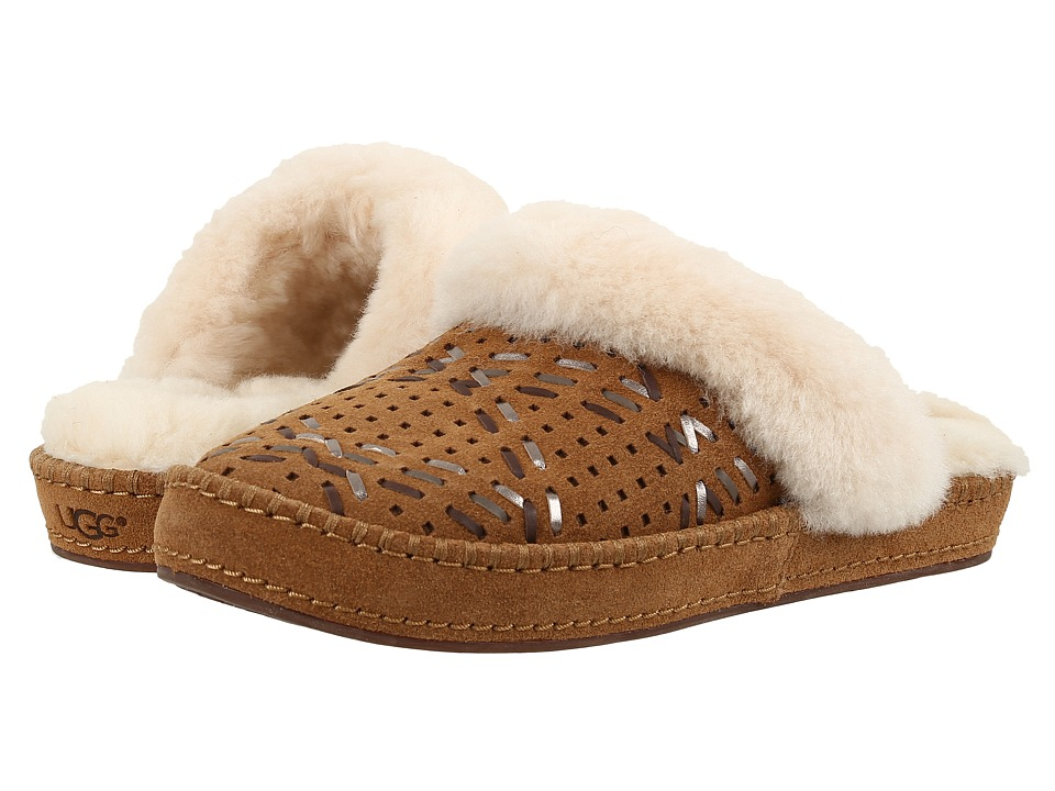 UGG - Aira Tehuano (Chestnut) Women's Slippers
