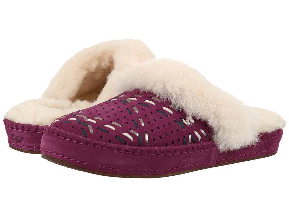 UGG - Aira Tehuano (Purple Passion) Women's Slippers