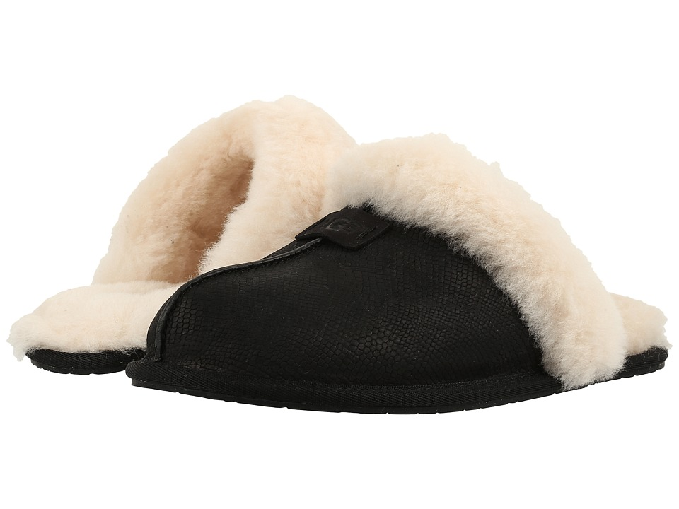 UGG - Scuffette II Snake (Black) Women's Slippers