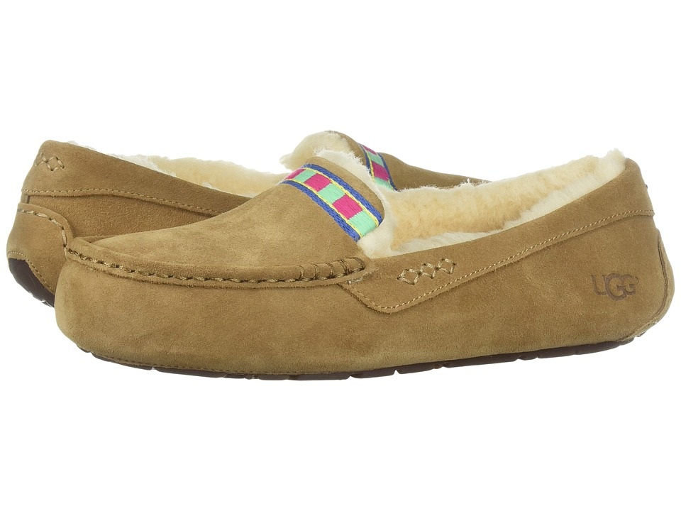 UGG - Ansley Embroidery (Chestnut) Women's Slippers