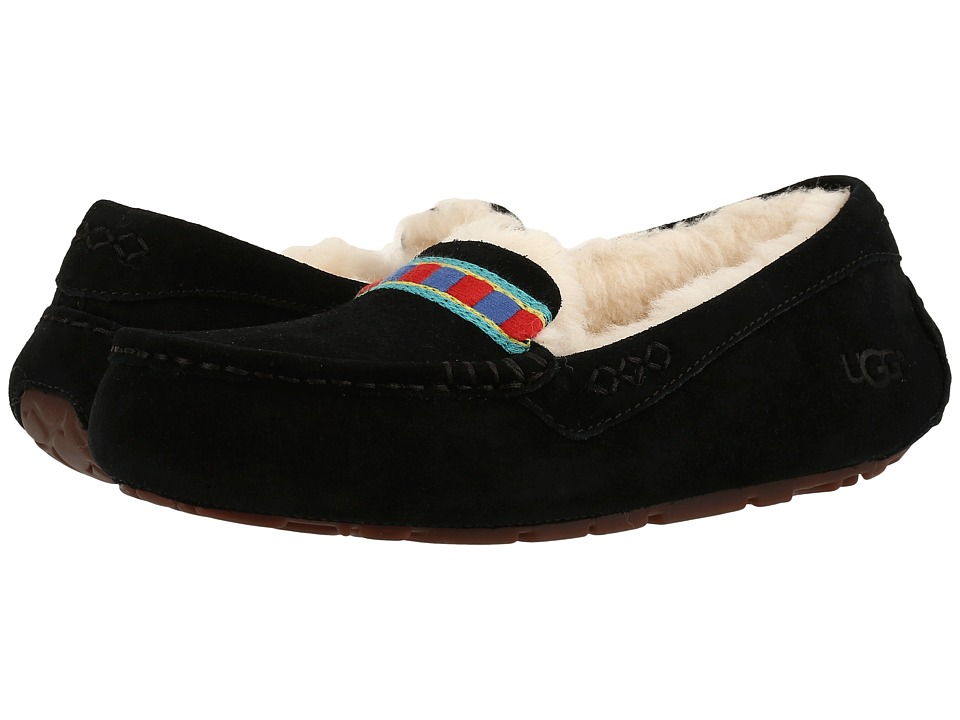 UGG - Ansley Embroidery (Black) Women's Slippers